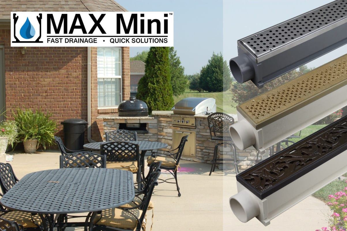 MAX Mini Decorative Drainage Systems for Patios